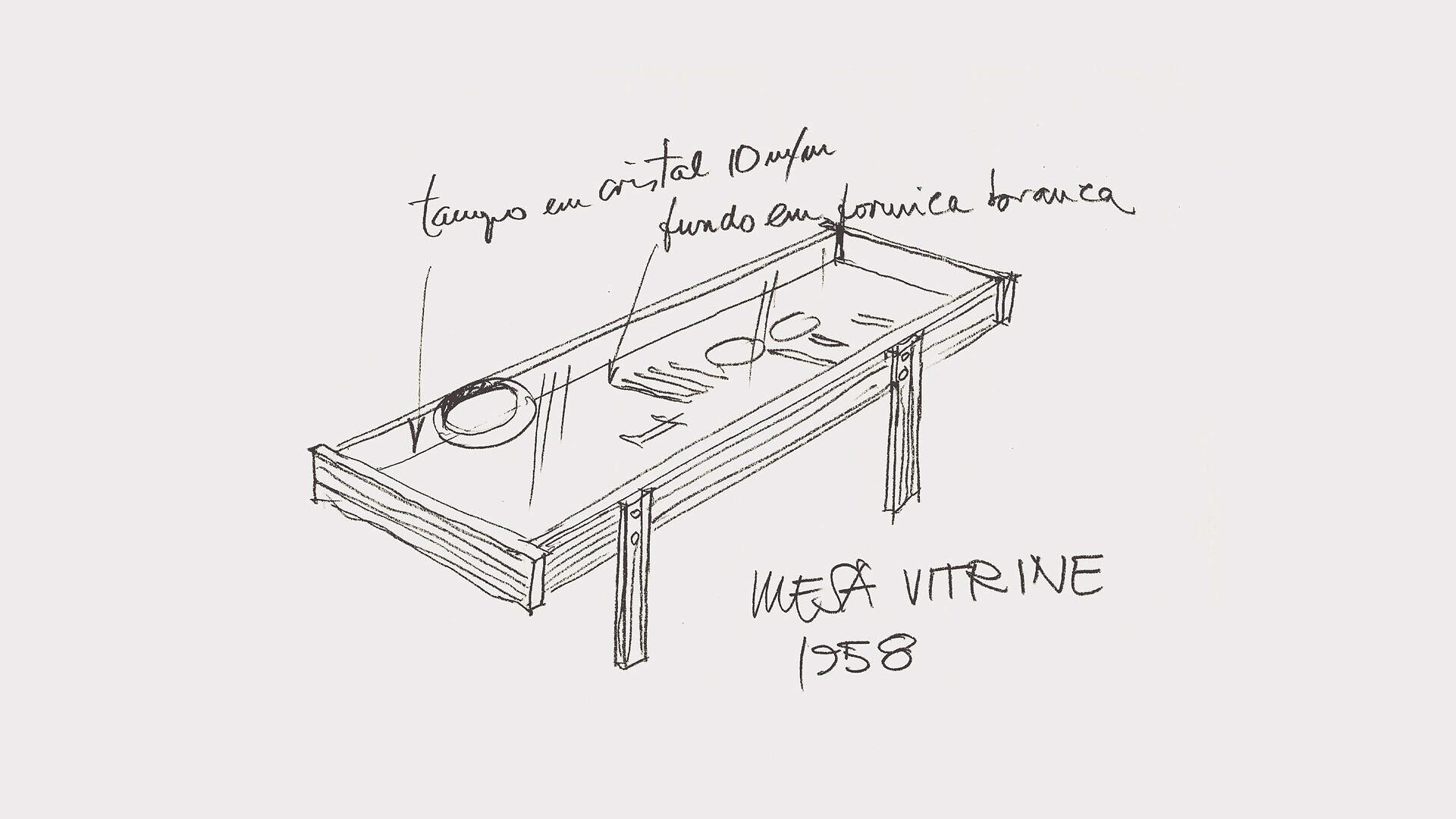 Mesa Vitrine